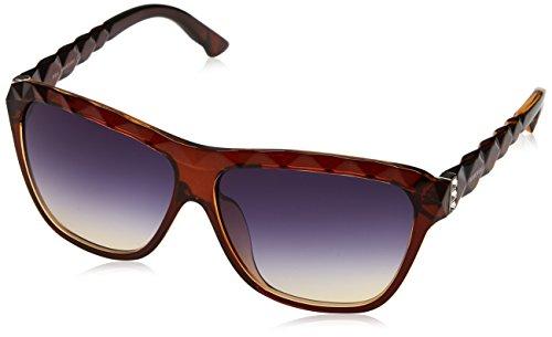 Swarovski Damen SK0079F-6250W Sonnenbrille, Braun (Dark Brown/Gradient Blue), 62
