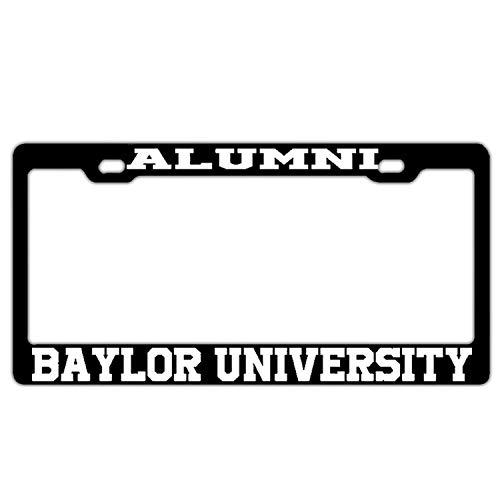 ernschildrahmen 2 Löcher Nummernschilderrahmen Edelstahl KFZ Kennzeichenabdeckung Halter für US und Schrauben, Alumni Baylor University Black ()