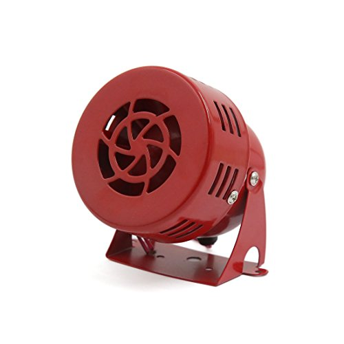 12v Luft (sourcingmap 12V Elektrisch Auto Lastwagen Motorrad Getriebens Luft Schutzsirene Horn Laut Alarm Rot)