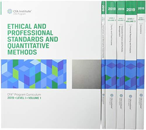 CFA Program Curriculum 2019 Level I par CFA Institute
