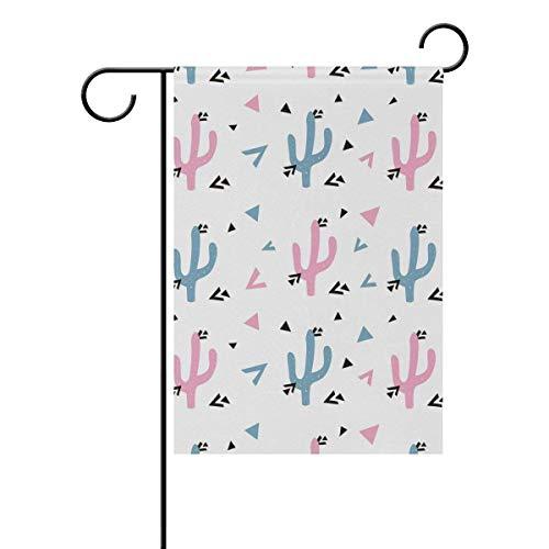 Dozili-Flagge, frische Farbe, Kaktus, Dekoration, Garten-Flagge, Wetterfest und doppelseitig, Polyester, bunt, 12.5