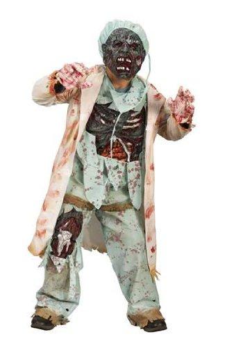 Zombie Doktor Deluxe Kinderkostüm Gr. (Doktor Kostüm Zombie Kinder)
