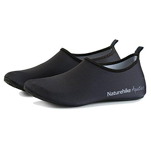 TRIWONDER Wasser Schuhe Haut Schuhe Quick Dry Aqua Socken Barfuß Schuhe für Beach Swim Surf Yoga (L, Schwarz)