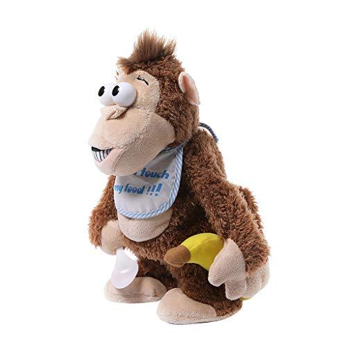 ltier Spielzeug Shriek Monkey Plüsch Kuscheltiere Batteriebetrieben Schöne Große Augen Kumpel Schöne Puppen Strumpf Birthday Party Favor Supplies ()