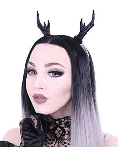 Dark Dreams Gothic Steampunk Haarband Haarreif Kopfschmuck Geweih schwarz