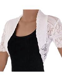 RageIT - Boléro Pour Femme Cardigan Tricot Crochet