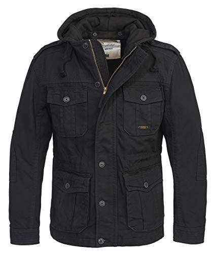 Brandit Urban Vintage Parka Sweathood Jacke (Black-Black, L)