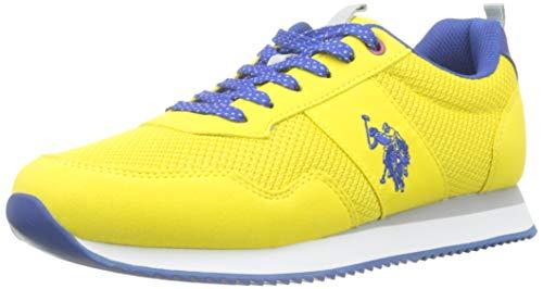 U.S. Polo Assn. Talbot3, Zapatillas amarillas outfit de Gimnasia para Hombre, Amarillo (Giallo 014), 42 EU