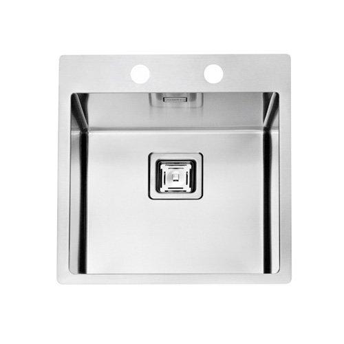 Flachrand Spüle ALVEUS STYLUX 10 / Edelstahlspüle Ausschnittmaß 494 x 434 mm / flächenbündig