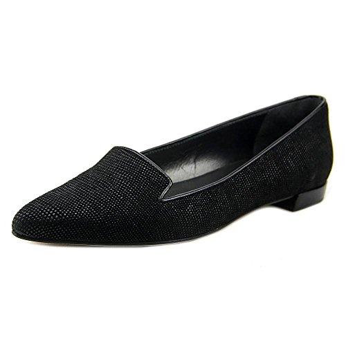 Stuart Weitzman Piperialto Femmes Cuir Chaussure Plate Black