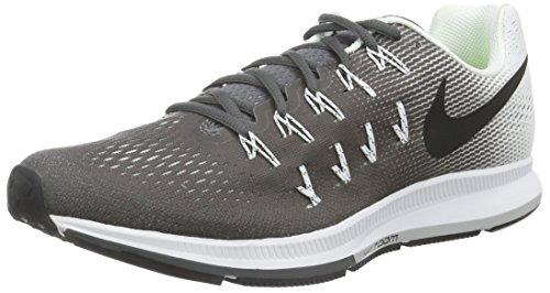 Nike Air Zoom Pegasus 33, Entraînement de course homme, Gris (Dark Grey/White/Black), 43 EU