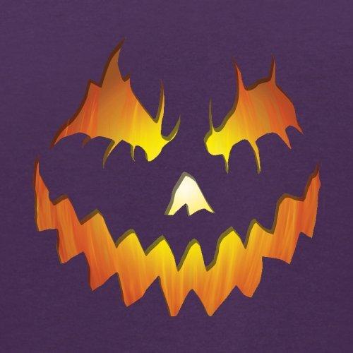 Halloween Pumpkin Face - Herren T-Shirt - 13 Farben Lila