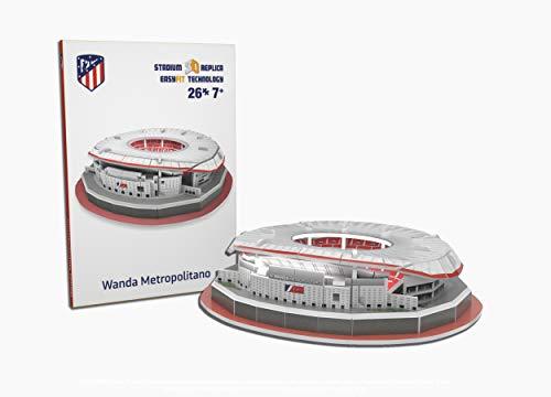 Atletico de Madrid Nanostad, Puzzle 3D Estadio Wanda Metropolitano Mini (34014), Multicolor