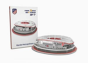ATLETICO DE MADRID Nanostad, Puzzle 3D Estadio Wanda Metropolitano Mini (34014), Multicolor (Kick Off Games 1)
