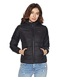Pepe Jeans Womens Quilted Jacket (PILT200624_Black_Medium)