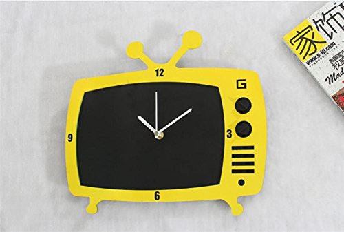 Kunst Board (Wanduhr 3D Home Einrichtung Mode kreative Kunst Retro TV Uhr Tafel Message Board Uhr Wanduhr , b)