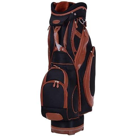 KV Eagle - Bolsa de carro para palos de golf, color negro / marrón