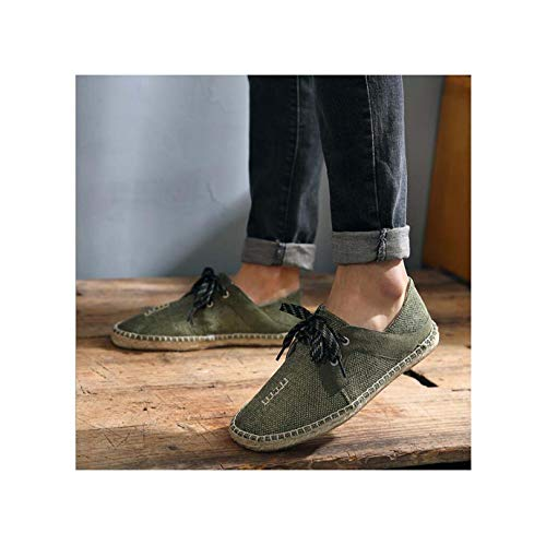 Jessica Simpson Espadrille (2018 Summer Fly fabricmale Casual Canvas Hemp Insole Fisherman Light Shoes Men Espadrille Flats Shoes II-07Z style9 7)