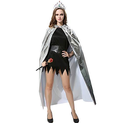 Kostüm Kings Robe - Windtor Unisex Umhang und Krone Set King Queen Cosplay Umhang Kostüm für Halloween Party Gr. G, 06