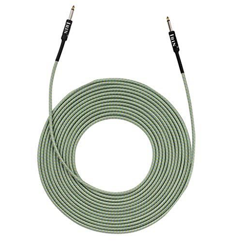 perfk 6,35-mm-Klinken-Gitarren Bass Verbindungskabel Drahtverbinder - Grün