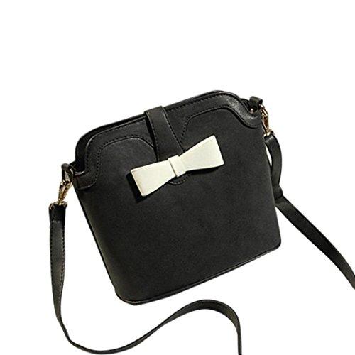 Transer  Women Shoulder Bag Popular Girls Hand Bag Ladies Leather Handbag, Damen Schultertasche schwarz 23cm(L)*22(H)*12cm(W) schwarz