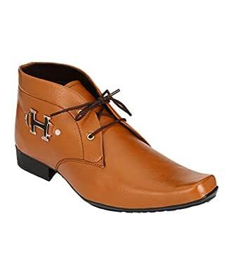 SHOE DAY Men's Faux Leather BRWN Formal Shoes 10 UK TAN