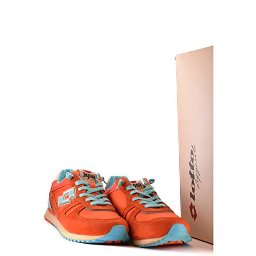 Schuhe nn236 Lotto Donna Rot Gewebe Orange