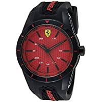 Ferrari Unisex-Adult Quartz Watch, Analog Display and Silicone Strap 830248