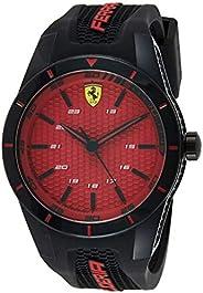 Ferrari Unisex-Adult Quartz Watch, Analog Display and Silicone Strap 830248