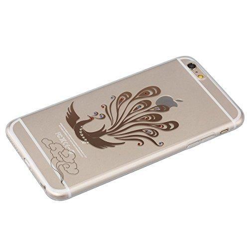 SainCat Coque Housse pour Apple iPhone 6 Plus /6s Plus,Transparent Coque Silicone Etui Housse,iPhone 6s Plus Silicone Case Soft Gel Cover Anti-Scratch Transparent Case TPU Cover,Fonction Support Prote phénix