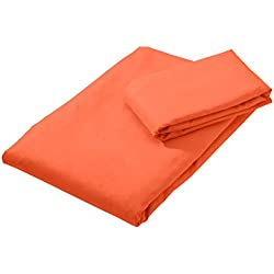 AmazonBasics - Juego de toallas de viaje y deporte (microfibra, 1 toalla de baño grande y 1 toalla de mano)