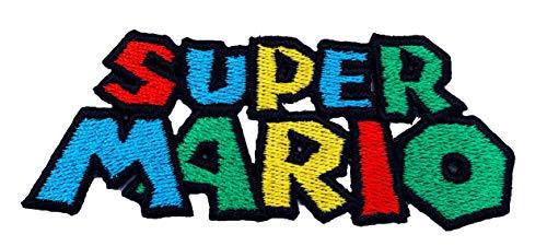 Irland Super Kostüm Mario - Super Mario Logo Patch Embroidered Iron on Badge Aufnäher Kostüm Mario Kart/SNES/Mario World/Super Mario Brothers/Mario Allstars Cosplay