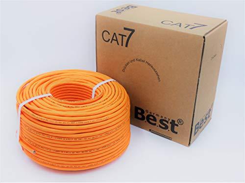 CAT.7 Verlegekabel BEST Gigabit Netzwerkkabel KUPFER Lan 1000Mhz S/FTP KAT 7 100m
