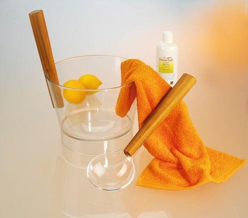 Preisvergleich Produktbild Sauna Zubehörset Aufgusskübel und Schöpfkelle Aufgusseimer 4 Liter Nr. 8377