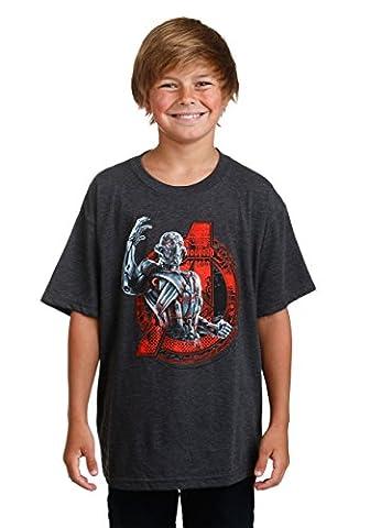 Boys Avengers Age Of Ultron Logo Bomb Black T-Shirt Medium