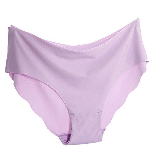 Vovotrade® Donne invisibile Underwear Perizoma Cotton Spandex Gas Seamless Crotch Porpora