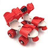 Protokart Pro Roller Skates for Kids, Quad Roller Skates, 4 Wheel Adjustable Skates, Adjustable Inline Skating Shoes, Age Group 5-12 Years (Red)