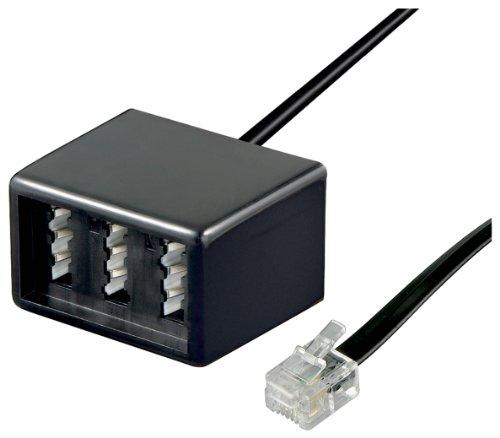 RJ11 - TAE Adapter, (lose Ware), RJ11 Stecker > TAE Buchsen TEL ADAP RJ11 - TAE NFN black