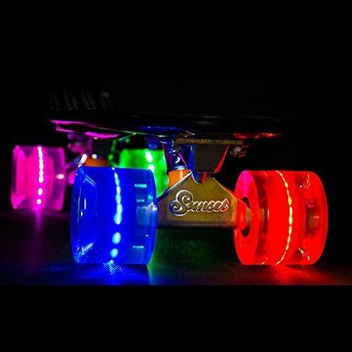 Sunset Skateboards, Cruiser Flare LED Rollen-Hippie-Multi Farbe (Sunset Skateboards-led)