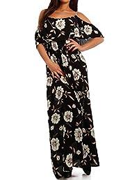 Young-Fashion - Robe - Ajourée - Imprimé Cachemire - Sans Manche - Femme