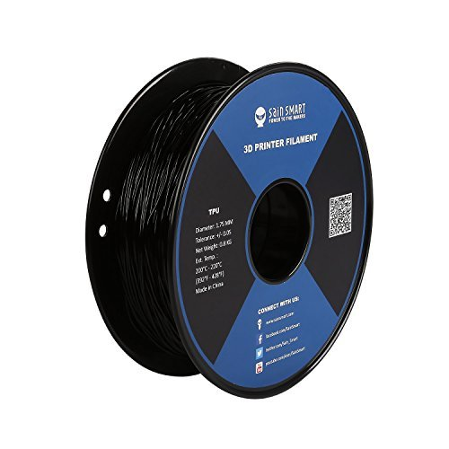 SainSmart TPU 3D-Drucker Filament, 1,75 mm, 0,8 kg, Schwarz - Komplette 90 Tabletten
