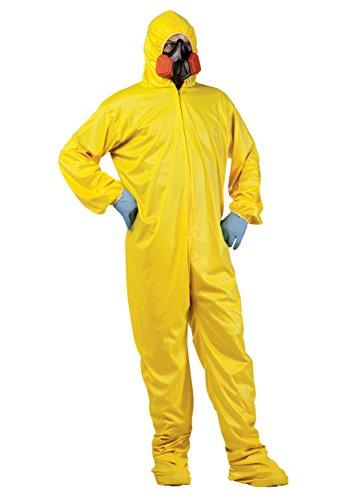 Breaking Kostüm Meth Bad - Unbekannt Biohazard Schutzanzug Halloween-Kostüm gelb M / L