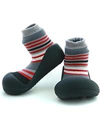 Attipas- Zapatos Primeros Pasos -Modelo Modern-Color Gris- Talla 20