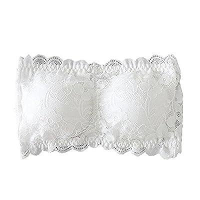 Ritu Creation Women's Cotton and Spandex Seamless Padded Bra(White_Free Size)