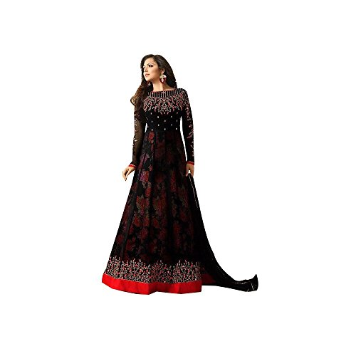 SuperX Womens Latest Designer Salwar Suit, Long Straight Pattern, Embroidered Salwar Suit...