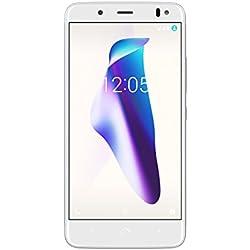 "BQ Aquaris VS - Smartphone de 5.2"" (4G, Wifi, Bluetooth 4.2, Qualcomm Snapdragon 430 hasta 1.5 GHz, 32 GB de memoria interna, 3 GB de RAM, cámara de 12 MP, Android 7.1.2), Oro/Blanco"