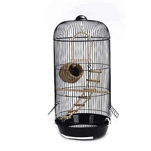 KSW_KKW Vogel-Nest-Large Metal Einfach European Round Haustier-Vogel Villa Indoor Outdoor Vogel Hanging Cage -