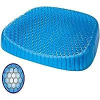 Preisvergleich für CAR SHUN Gel Sitzkissen Mit Rutschfester Abdeckung Atmungsaktives Waben Design Absorbiert Druckpunkte Sitzkissen