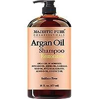 Majestic - Majestic puro aceite de argán Champú Fórmula enriquecida con vitaminas Suave Hair Restoration marroquí