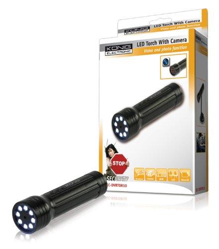 Preisvergleich Produktbild König LED-Taschenlampe mit Kamera und Mikrofon, SEC-DVRTOR10